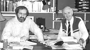 In my Netherlands office 1995 with Geoffrey Dean